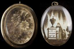 Mourning Miniature with Hair Brooch, SC, 1802,