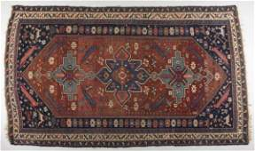 676 Persian Area Rug Shiraz Style early 20th c
