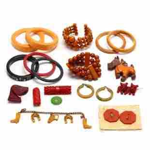 Group of Bakelite Jewelry Items