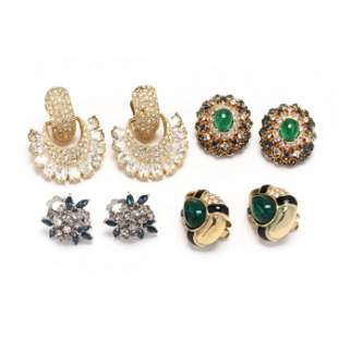 Four Pairs of Clip Earrings