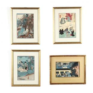 A Group of Four Japanese Woodblock Prints
