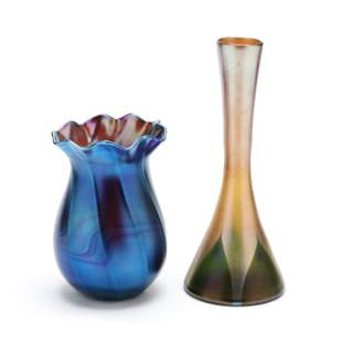 Two L. C. Tiffany Favrile Glass Vases