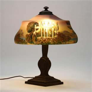 Pairpoint, Reverse Painted Table Lamp