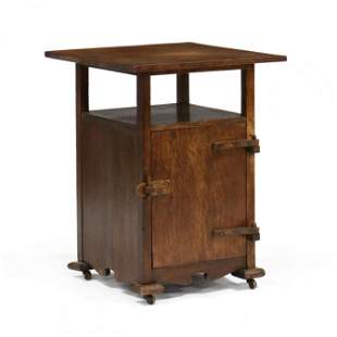 Arts and Crafts Oak Side Cabinet