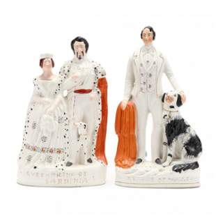 Two Large Staffordshire Figurines of Royalty