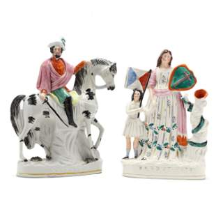 Two Large Political Staffordshire Figurines