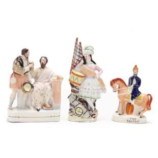 Three Staffordshire Mid-19th Century Figurines