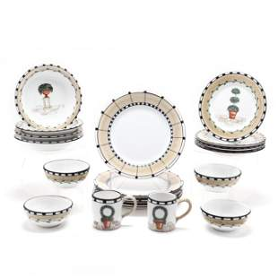 A Set of Deruta Italian Pottery Tableware