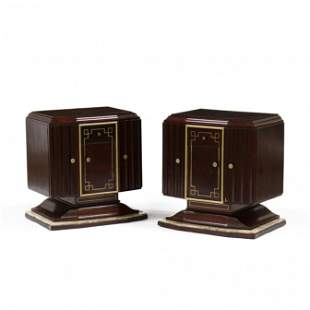 Pair of Art Deco Painted Stands