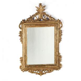 Antique Italian Carved and Gilt Mirror