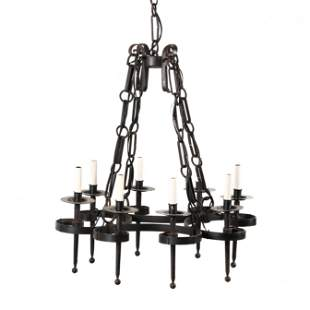 Spanish Style Wrought Iron Chandelier