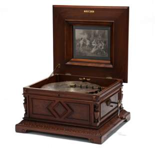 Large Polyphon Disc Music Box