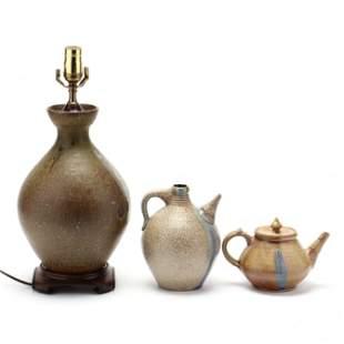 NC Pottery, Mark Hewitt, Three Vessels
