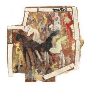 Purvis Young (FL, 1943-2010), Wild Horses