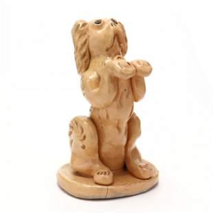 NC Folk Pottery, Billy Ray Hussey, Begging Dog