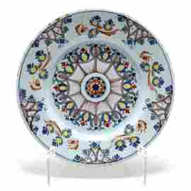 "English Delft Charger in the ""Anne Gomm"" Style"