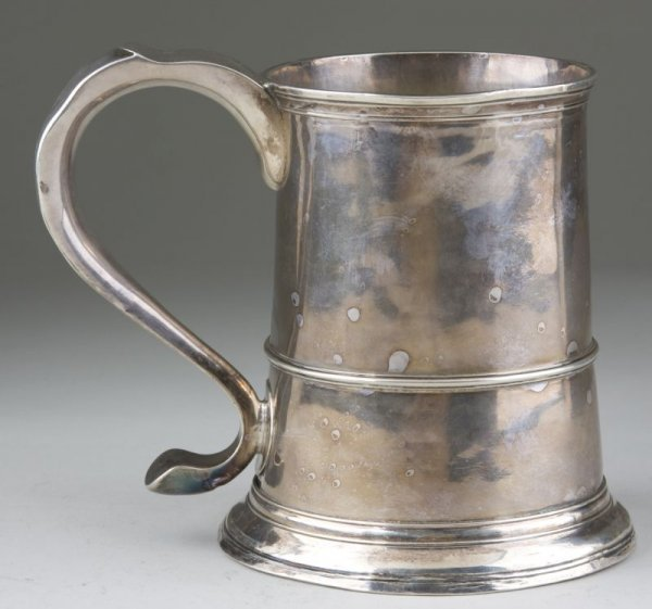 1: Newcastle Sterling Tankard by John Langlands I