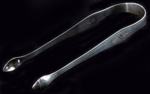 2: George III Silver Sugar Tongs