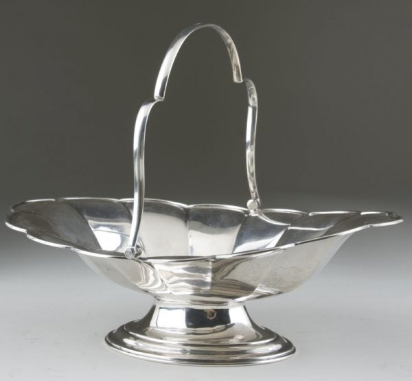 9: English Sterling Cake Basket by Stewart Dawson Ltd