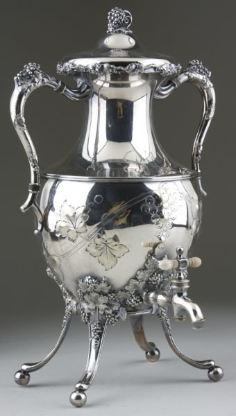 10: Victorian Silverplate Hot Water Urn