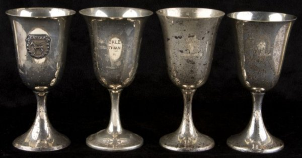 16: Assembled Set of Four Sterling Goblets