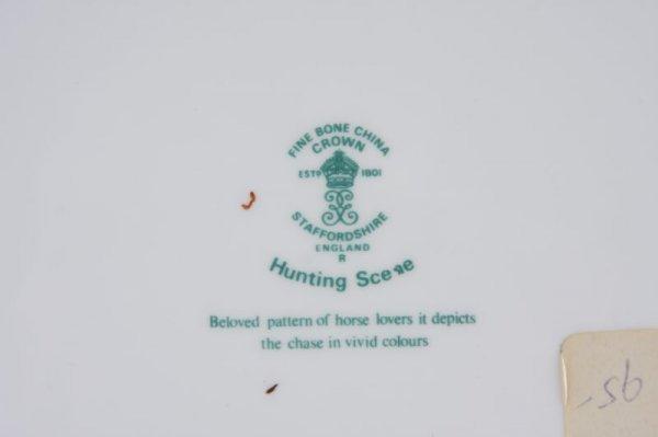 "275: Crown Staffordshire ""Hunting Scene"" China Service - 4"