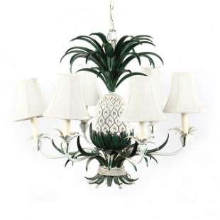 Vintage Tole Pineapple Chandelier