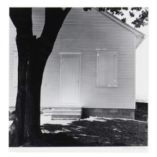 George Tice (American, born 1938),  Tree and Meeting