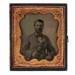 Ambrotype of Identified Confederate Surgeon with Very