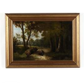 English School (19th Century), Landscape with
