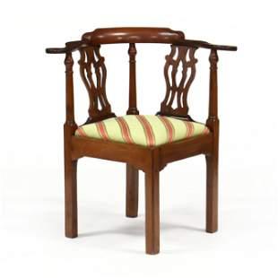 American Chippendale Mahogany Corner Chair