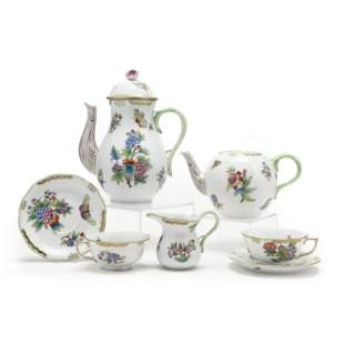 Herend  Queen Victoria  Porcelain Partial Tea & Coffee