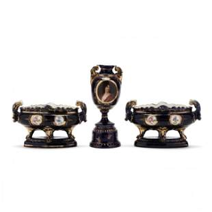 Three Piece Set Royal Vienna Porcelain