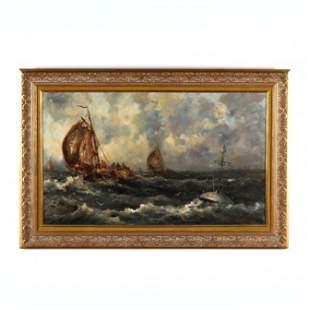 Large English School Maritime Scene