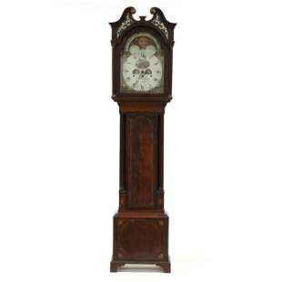 George III Inlaid Mahogany Tall Case Clock, William