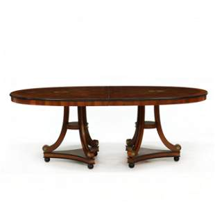 Century, Continental Style Inlaid Double Pedestal
