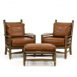Stanford Furniture, Pair of  Kyle  Arm Chairs with