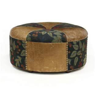 Oversized Leather Upholstered Ottoman