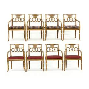 Hickory Chair, Set of Eight  Charleston Regency  Dining