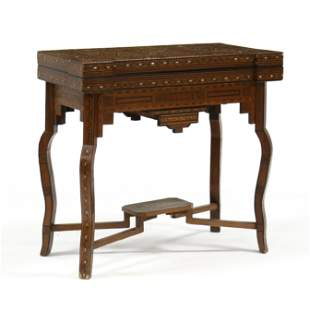Anglo-Indian Inlaid Games Table