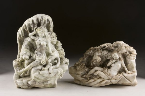 2: Two Asian Stone Relief Carvings