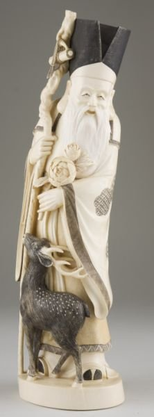 6: Large Asian Ivory of Shou-Lao, God of Longevity
