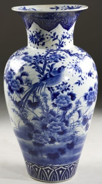 16: Chinese Large Blue & White Vase