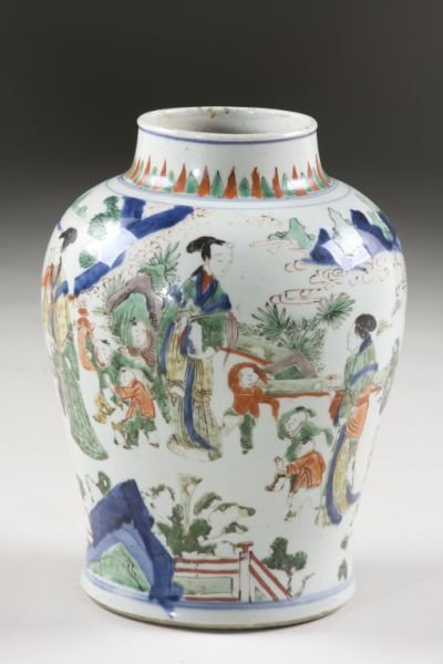 58: Chinese Five-Color Wucai Porcelain Vase