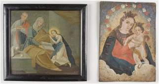 114: Two Religious Paintings, 19th century
