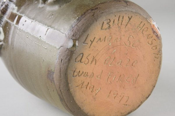 233: Billy Henson South Carolina Pottery Face Jug - 3