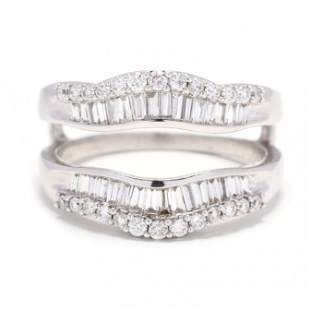 14KT White Gold and Diamond Ring Guard / Jacket