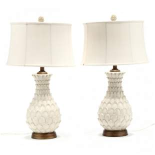 Pair of Contemporary Painted Lamps