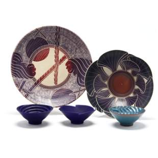 Group of Five Contemporary Pottery