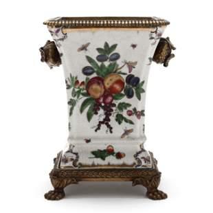 Contemporary Crackle Glaze Vase, JUWC 1897 (United